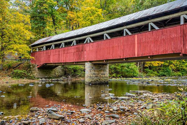 Laurel Hill Creek Photograph - Lower Humbert Covered Bridge 4 by Steve Harrington