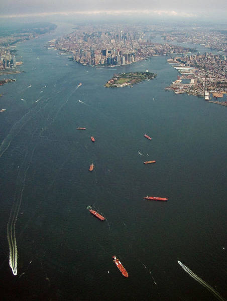 Photograph - Lower Manhattan And New York Bay by Greg Reed