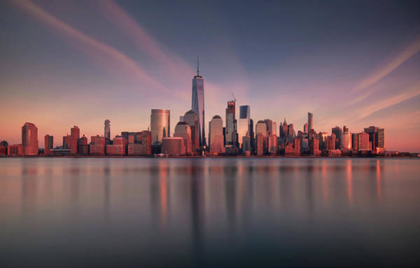 Wall Art - Photograph - Lower Manhattan At Dusk by David D