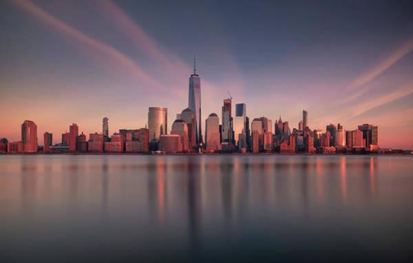 Manhattan Wall Art - Photograph - Lower Manhattan At Dusk by David D