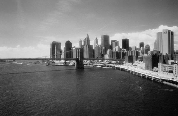 Photograph - Lower Manhattan Infrared by Dave Beckerman
