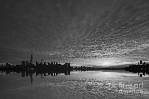 Nine Eleven Photograph - Lower Manhattan Sunrise Bw by Michael Ver Sprill