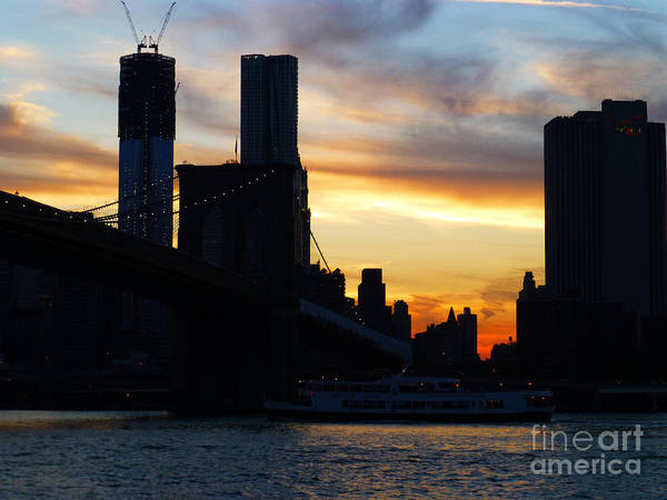 Photograph - Lower Manhattan Sunset by Steven Spak