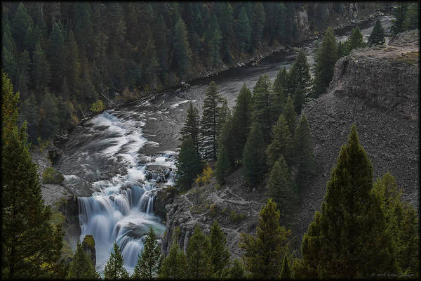 Photograph - Lower Mesa Falls by Erika Fawcett