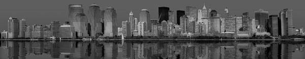 Photograph - Lower New York City Skyline  Bw by Susan Candelario