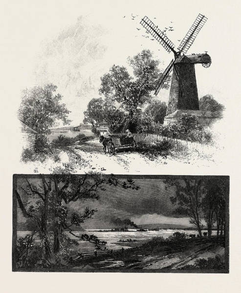 Old Style Drawing - Lower Ottawa, Old Windmill On Lachine Road by Canadian School