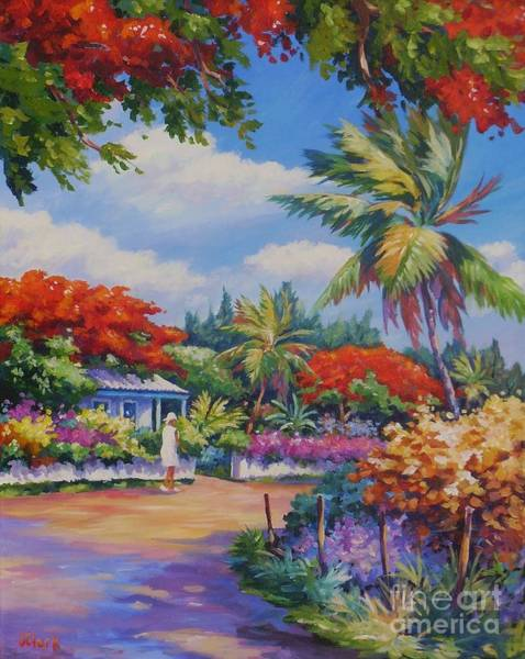 Hibiscus Flower Painting - Lower Valley by John Clark