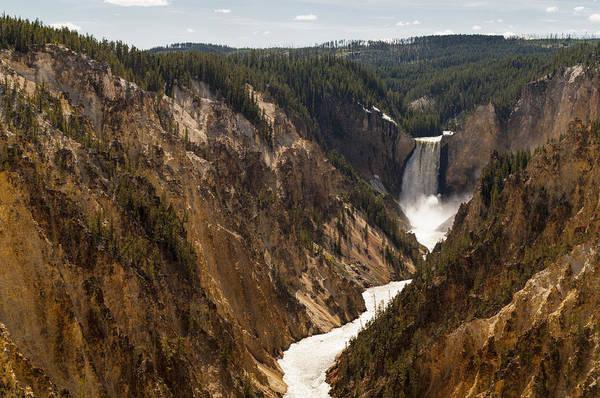 Wall Art - Photograph - Lower Yellowstone Canyon Falls 4 - Yellowstone National Park Wyoming by Brian Harig