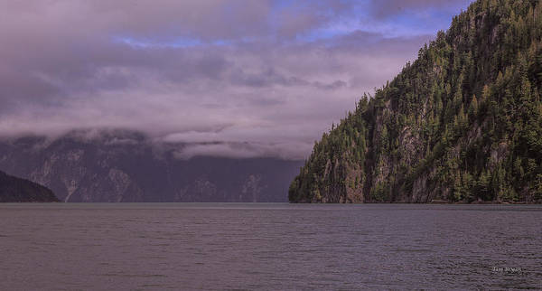 Photograph - Lowering Clouds-knight Inlet-british Columbia by Tim Bryan