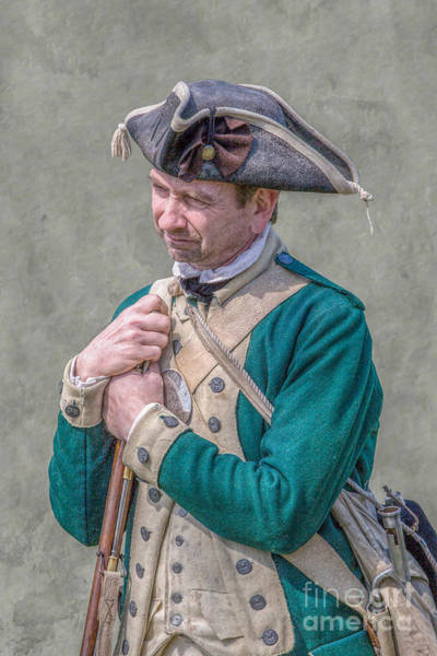Musket Digital Art - Loyalist Soldier With Musket Fort Hand by Randy Steele