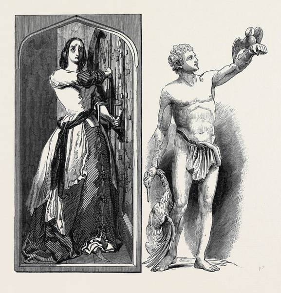 Douglas Drawing - Loyalty Catherine Douglas Barring The Door by English School
