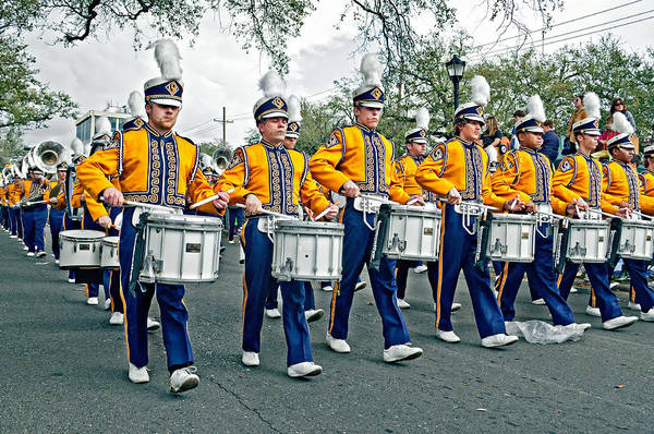 Steve Harrington Wall Art - Photograph - Lsu Marching Band by Steve Harrington