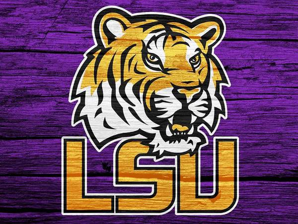 Tiger Digital Art - Lsu Tigers Barn Door by Dan Sproul