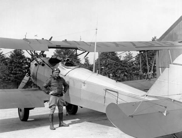 1929 Photograph - Lt. Doolittle's Anti Fog Plane by Underwood Archives