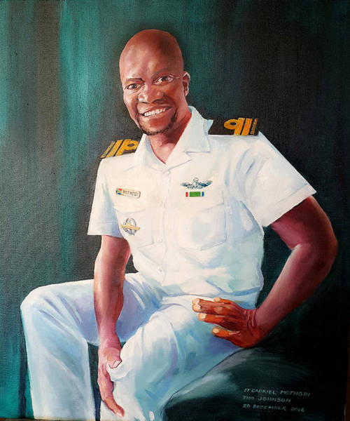 Painting - Lt Gabriel Mothobi by Tim Johnson