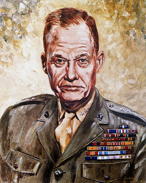 Artistry Painting - Lt Gen Lewis Puller by Mountain Dreams