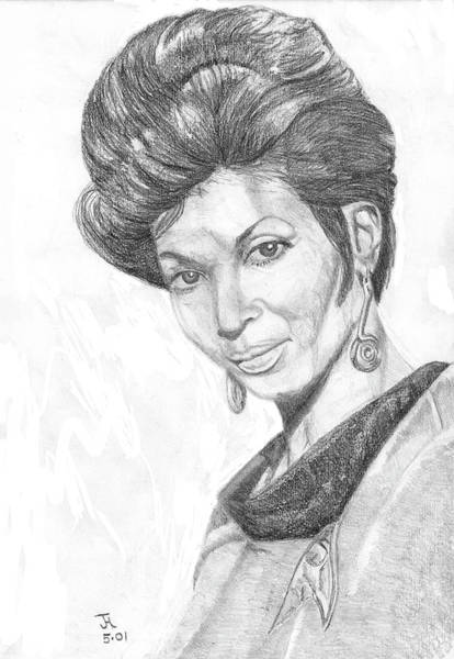 Painting - Lt. Uhura by Thomas J Herring
