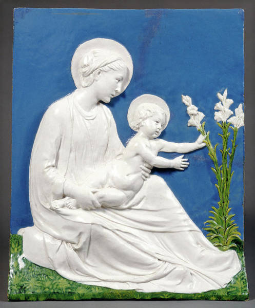Wall Art - Drawing - Luca Della Robbia, Madonna And Child, Italian by Quint Lox