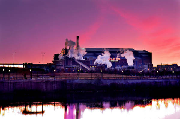 Photograph - Lucas Oil Stadium Sunrise by David Haskett II
