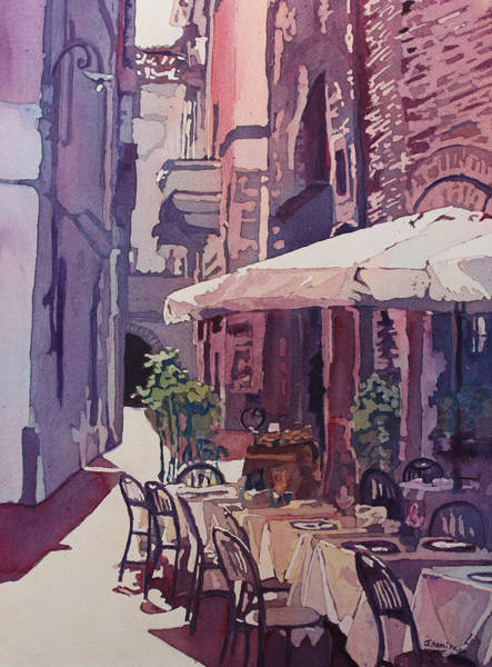 Painting - Lucca Cafe by Jenny Armitage