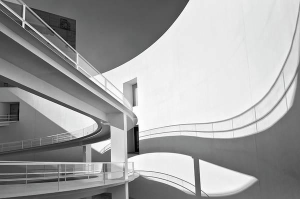 Handrail Photograph - Luces Y Sombras by Antonio Rodr??guez Maldonado