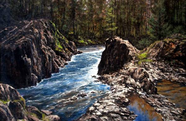 Rivers Wall Art - Painting - Lucia Falls Downstream by Jim Gola