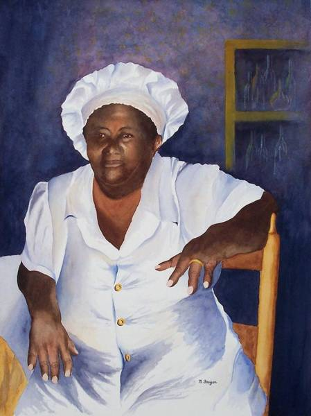 Saint Lucia Painting - Lucia by Norman Freyer