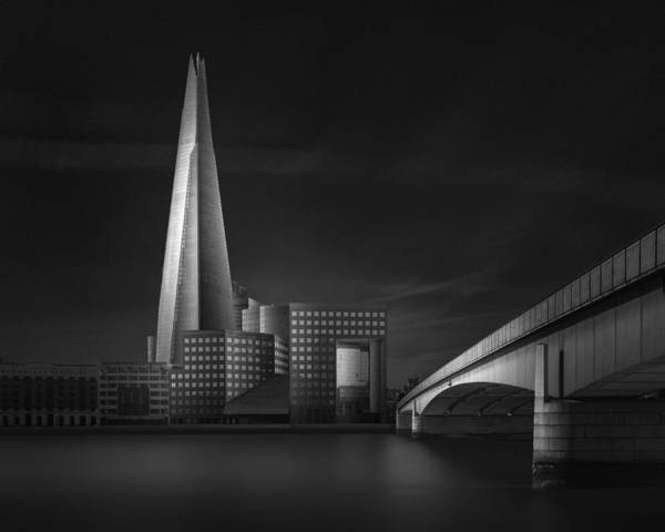 Modern Architecture Photograph - Lucid Dream II - The Shard & London Bridge by Oscar Lopez