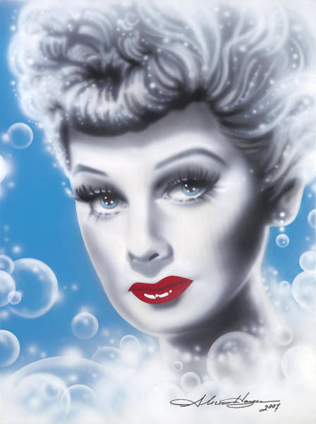 Leading Actress Wall Art - Painting - Lucille Ball by Alicia Hayes