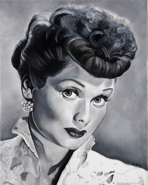 Television Painting - Lucille Ball by Brian Broadway