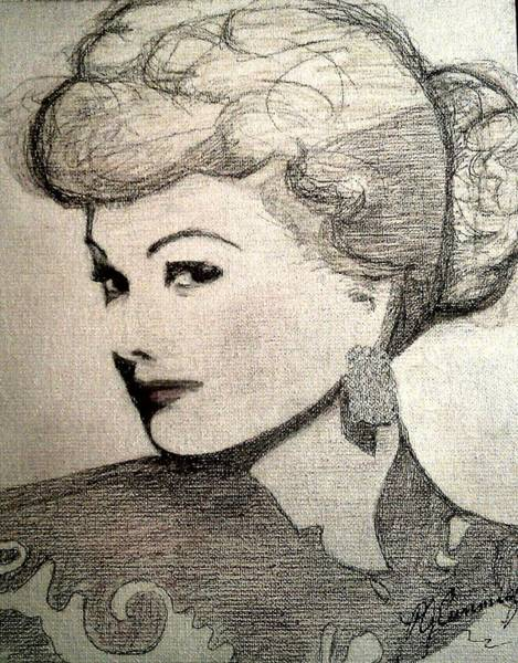 Painting - Lucille Ball by Patricia Brewer-Cummings