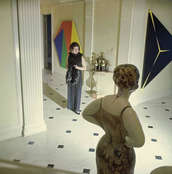Modernist Photograph - Lucille Murchison In Her Hallway by Horst P. Horst