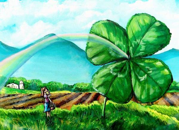 Lucky Clover Painting - Luck Of The Dale by Shana Rowe Jackson