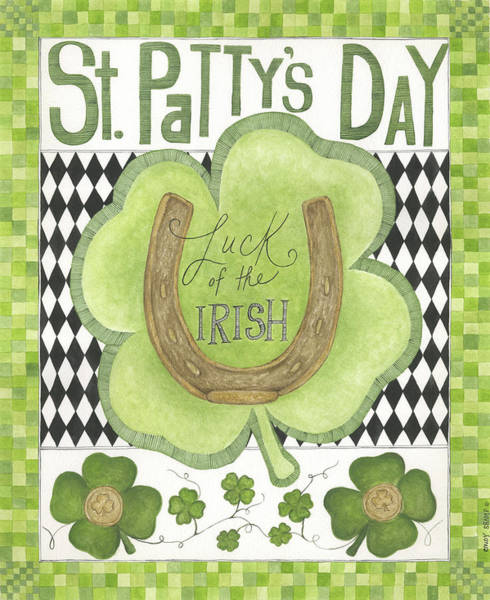 St Patricks Painting - Luck Of The Irish by Cindy Shamp