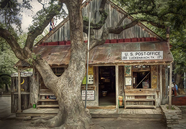 Post Wall Art - Photograph - Luckenbach 2 by Scott Norris