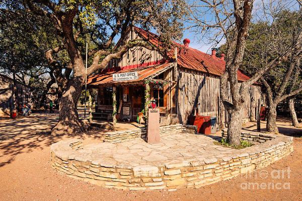 Fredericksburg Wall Art - Photograph - Luckenbach Post Office In Golden Hour Light - Texas Hill Country by Silvio Ligutti