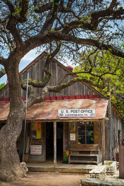 Front Porch Photograph - Luckenbach Post Office by Inge Johnsson