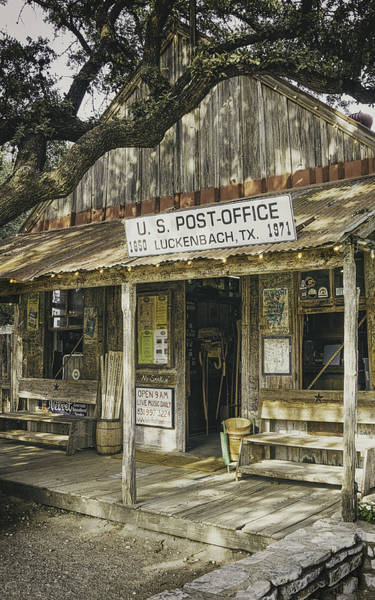 Oak Photograph - Luckenbach by Scott Norris