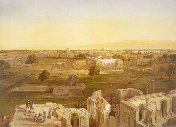 Indian Drawing - Lucknow, From India Ancient And Modern by William 'Crimea' Simpson