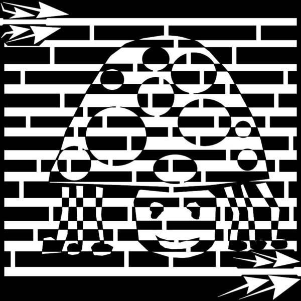 Lady Bug Drawing - Lucky Art Lady Bug Maze by Yonatan Frimer Maze Artist
