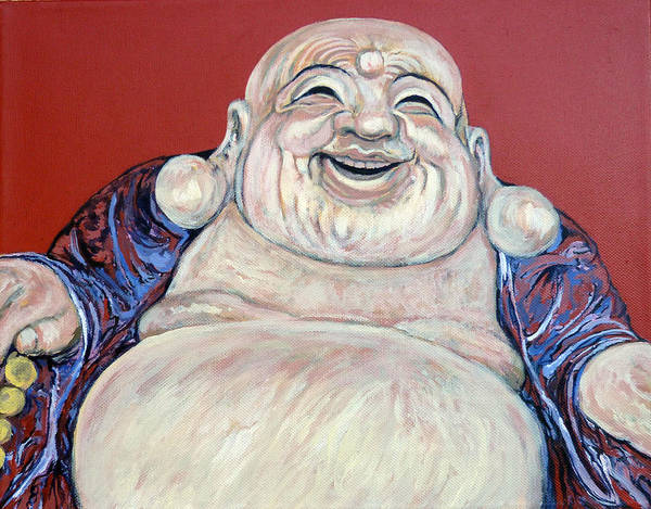 Painting - Lucky Buddha by Tom Roderick