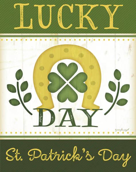 St Painting - Lucky Day by Jennifer Pugh