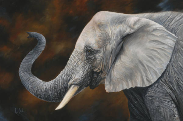 Elephant Painting - Lucky by Lucie Bilodeau