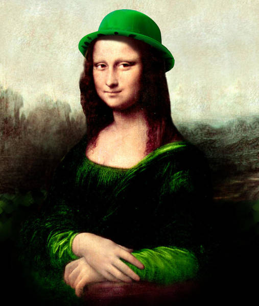 St Patricks Painting - Lucky Mona Lisa by Gravityx9  Designs