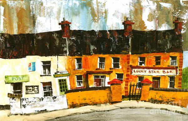 Painting - Lucky Star Bar On Aran Galway by Val Byrne