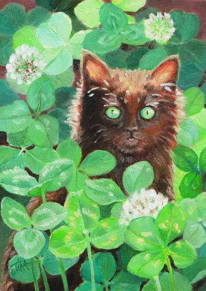 Lucky Clover Painting - Lucky by Tina Welter