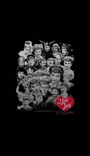 I Love Lucy Wall Art - Digital Art - Lucy - 60 Years Of Fun by Brand A