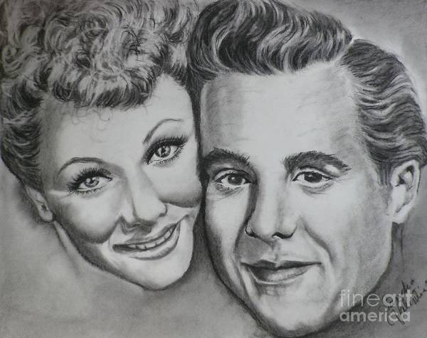 Wall Art - Drawing - Lucy And Ricky by Sandra Valentini