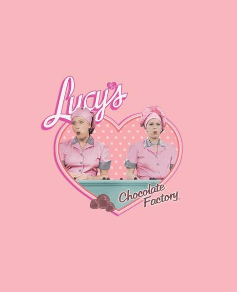 I Love Lucy Wall Art - Digital Art - Lucy - Chocolate Factory by Brand A
