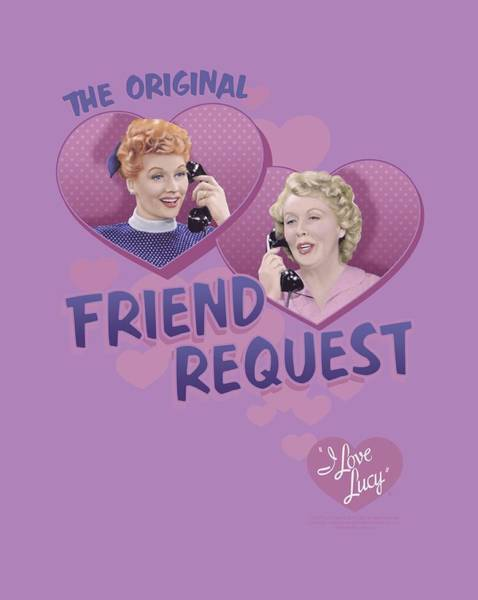 I Love Lucy Wall Art - Digital Art - Lucy - Friend Request by Brand A